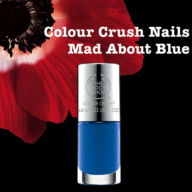 NEW Mad About Blue The Body Shop Colour Crush Nail Polish: http://www.thebodyshop.co.za/store/product/colour-crush-nail-polish#