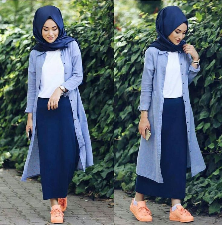 Looking amazing in a denim blue outfit, this is the sort of outfit you would wear out on a casual day out! #casualoutfits #modestwear #lookinggood #hijabifashion #islamicwear #hijabs