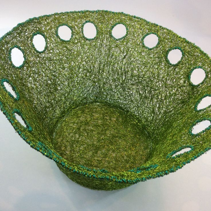 Woven wire lime bowl