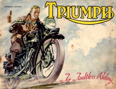 Triumph motorcycle ad - Nothing I Love more than vintage motorcycle ads