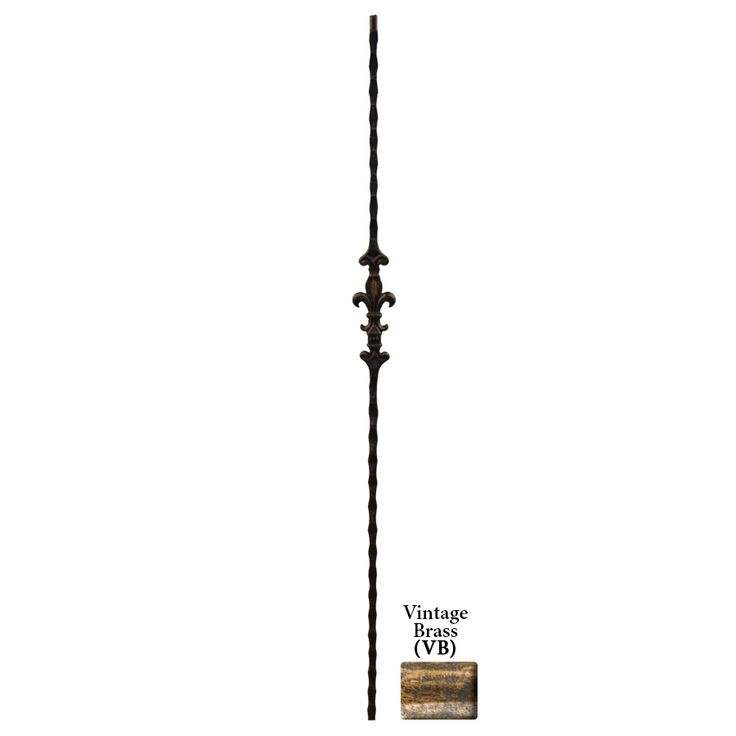 Best Shop House Of Forgings Solid 44 In Vintage Brass Wrought Iron Orleans Stair Baluster At Lowes 640 x 480