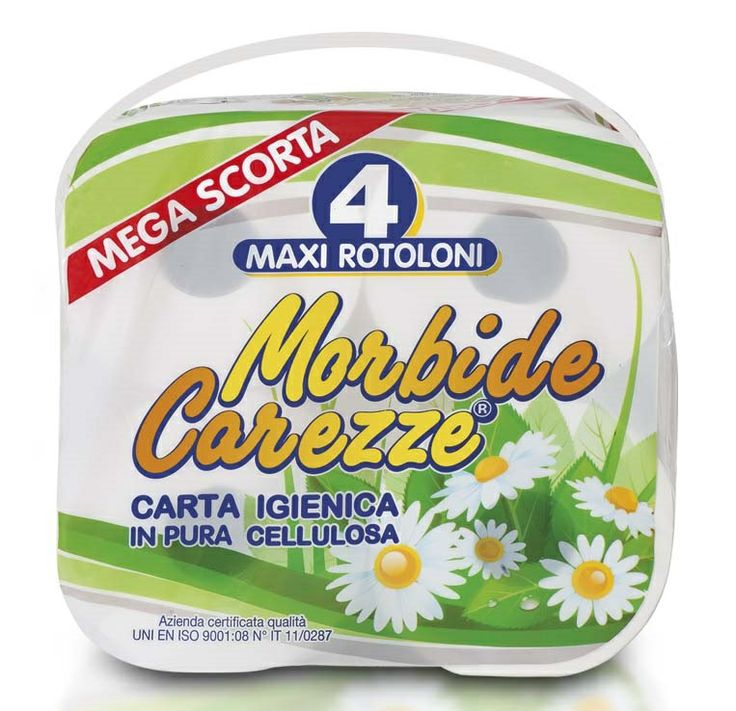 Carta igienica 4 maxi rotoloni Mega Scorta Morbide Carezze