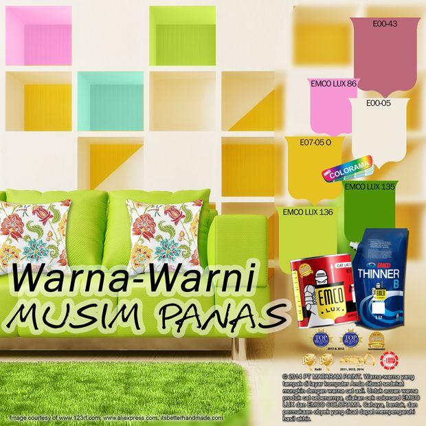 Warna-Warni Musim Panas  #the #color #of #summer #likeforlike http://matarampaint.com/detailNews.php?n=389