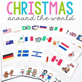 **Updated 10/29/16 13 individual printable readers and aligning activities for holiday celebrations for CATW.Christmas Around the World Bundle This unit comes with 13 mini books packed with information about each country.  This bundle comes with the following countries:  Christmas in England Christmas in Italy Christmas in Germany  Christmas in Australia Christmas in Mexico Christmas in Italy Christmas in Israel Christmas in Sweden Christmas in The United StatesNew Countries added 10/23/16…