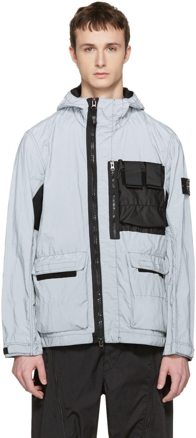 Stone Island - Silver Reflective Jacket