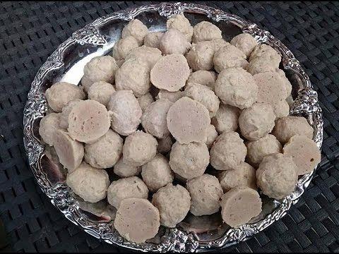 How to make meet balls (pork) Lao food - YouTube