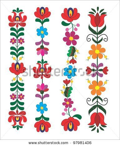 Embroidery Hungarian Pattern Stock Vector 97981406 : Shutterstock