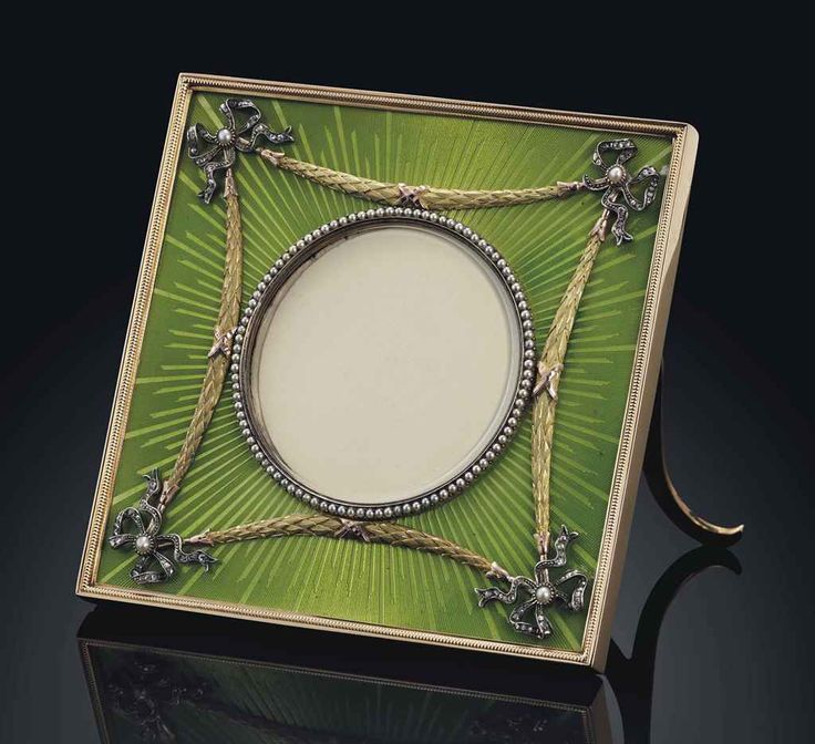 enamels picture frames pearl set faberge eggs imperial russia clocks picture frame tag watches frame - Enamel Picture Frames