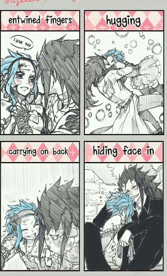 Gajeel x Levy. Fairy tail.--- HOW CAN YOU BE SO APATHETIC?! I'M SQUEALING OVER HOW CUUTE THIS IS!!!!!!!!!!!!!!!!!!!!!!!
