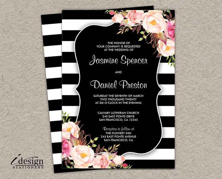 343 best Printable Wedding Invitations And Coordinated Products - printable dinner invitations