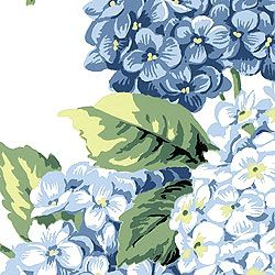 """T3905 PatternHYDRANGEA  Wallpaper CollectionBoat House ColorwayBlue on White ConstructionWallpaper Width27.00""""(68.58 cm) Repeat V25.25""""(64.14 cm) Pricedby the single roll Area30.37 sq ft (2.82 sq m) Length4.50 yd (4.11 m) Weight0.90 lb (0.41 kg) Packaged in double rolls Area60.74 sq ft (5.64 sq m) Length9.00 yd (8.23 m) Weight1.80 lb (0.82 kg)"""