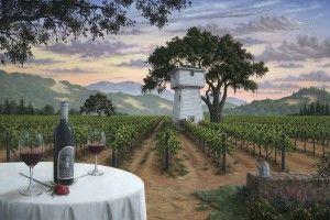 Silver Oak Sunset   Patrick O'Rourke - Napa Valley Wine Art