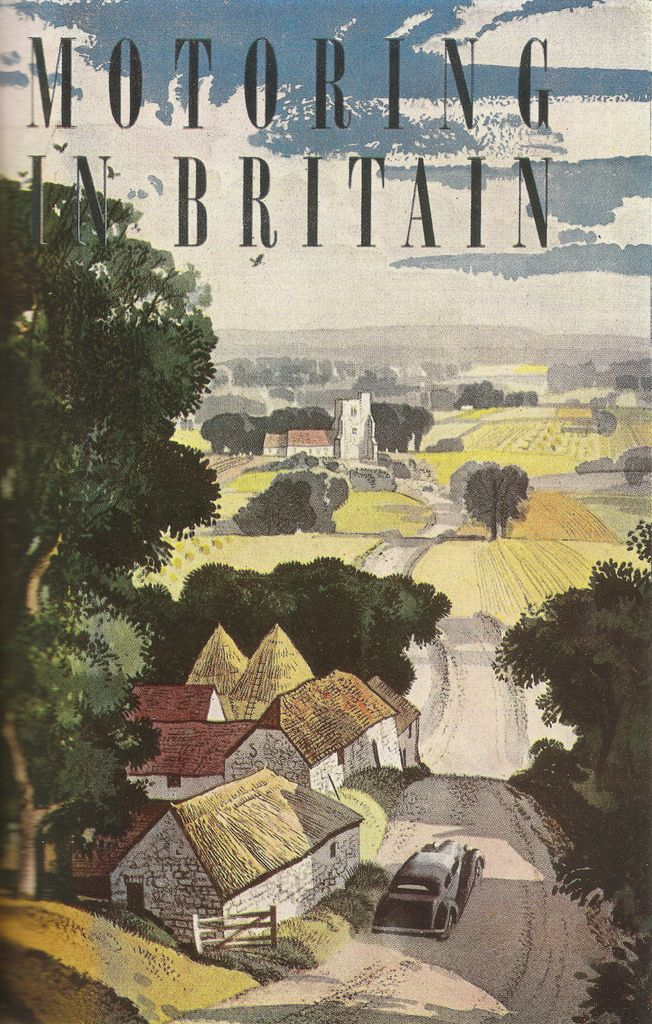 "'Motoring in Britain"" - travel brochure, c1950 - illustrated by Rowland Hilder"