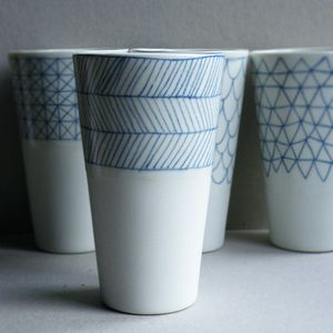 Home-made drinking goblets/ vase/ pencil cup holders by atelier halo.