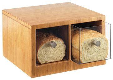 14W x 13.5D x 5.625H Bamboo 2 Drawer Bread Bin 1 Ct - contemporary - Bakeware - bizaisle