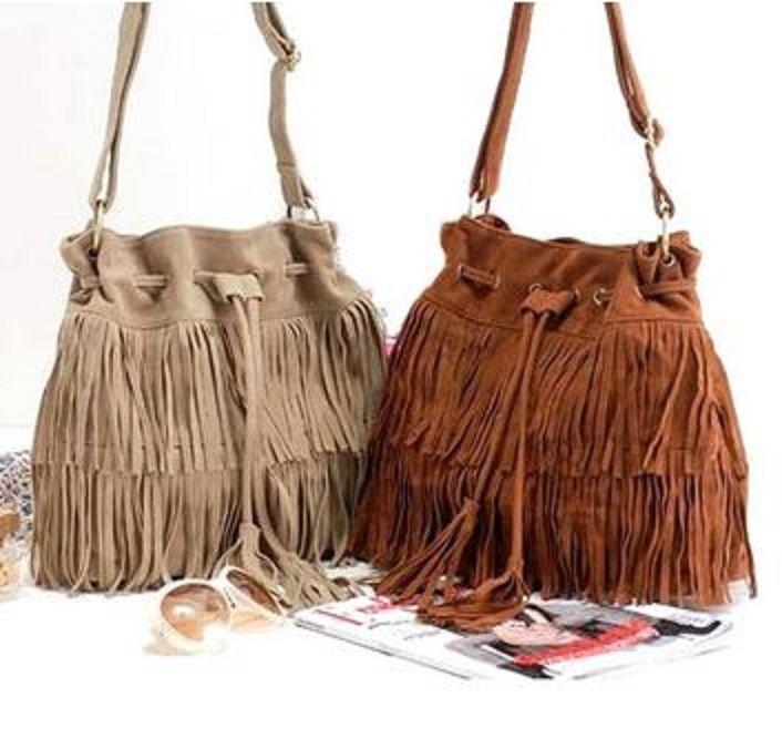 Love the Fringe! Bohemian Retro Style Tassels and Suede Design Women's Crossbody Bag