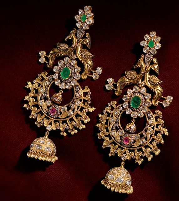 Beautiful earrings with intrinsic work must have in collection #IndianJewellery