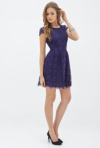 Eyelash Lace A-Line Dress | FOREVER21 ...apparently a girl can never have too many lace dresses