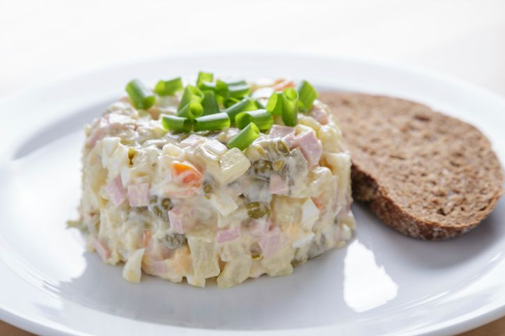 The original Russian salad recipe was a closely guarded secret, but today no Greek menu would be complete without it!