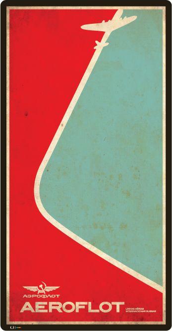 cartaz aeroflot - J E N G