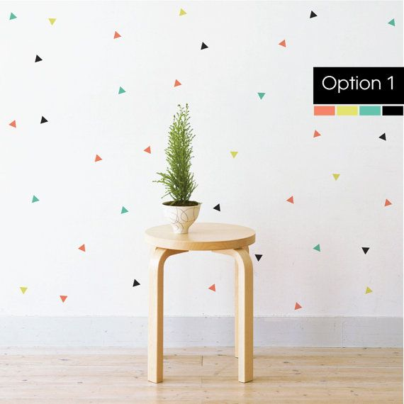 Confetti Triangles Removable Wall Decal U0026 By LittleStickerBoy