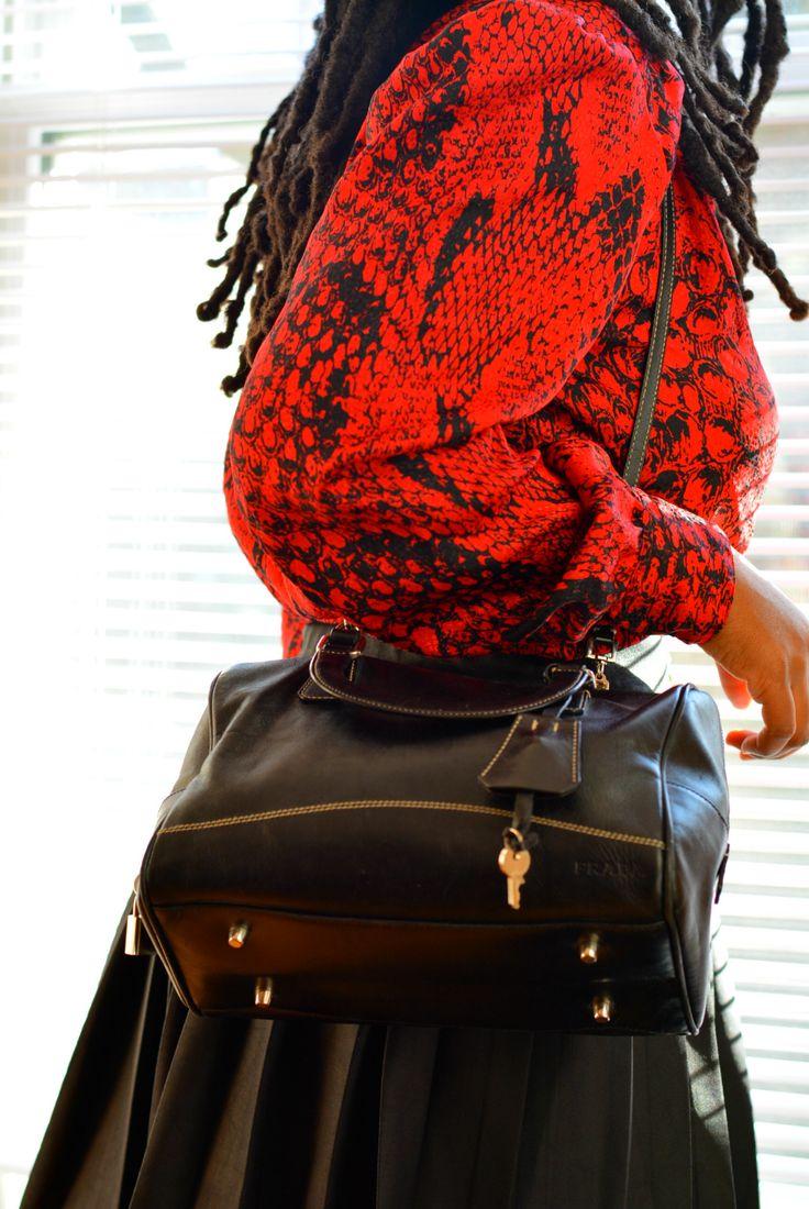 thrifted prada purse