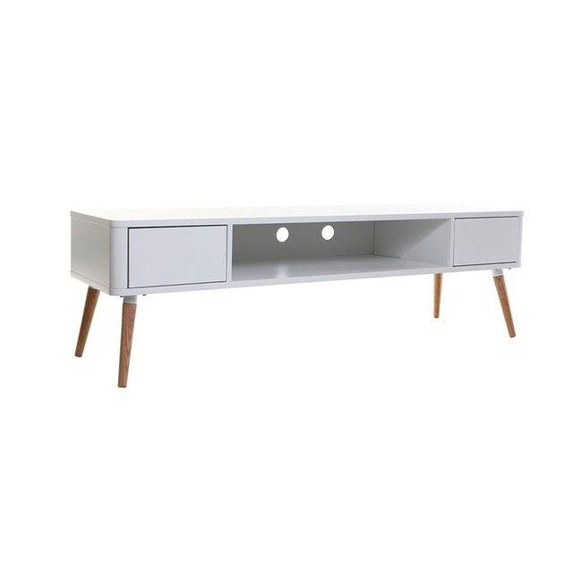 Meuble Tv Design Scandinave Totem Blanc Miliboo La Redoute Mobile Meuble Tv Design Meuble Tv Decoration Moderne