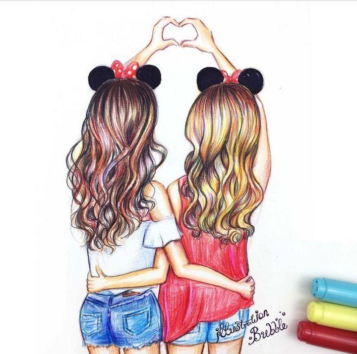 Ich 20liebe 20meine 20bff Bestfrienddrawingseasy Drawings Of Friends Best Friends Cartoon Friend Cartoon