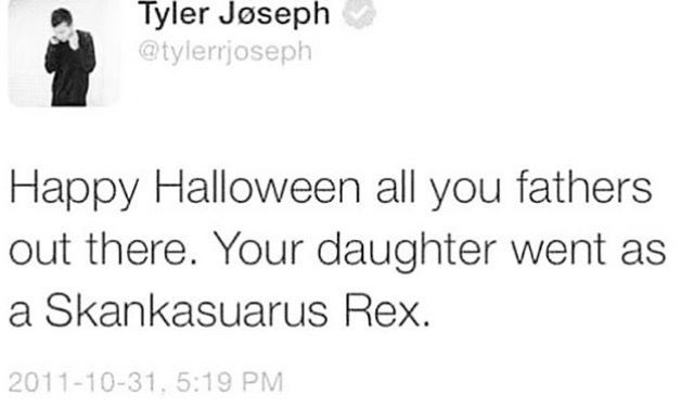 And its spelled wrong lolThis is the worst language I've ever heard Tyler use. Happy Halloween