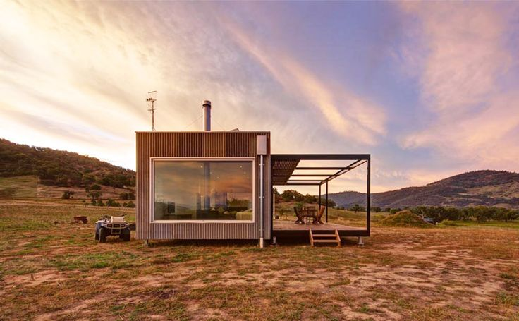 tintaldra cabin by modscape exists autonomously in rural australia