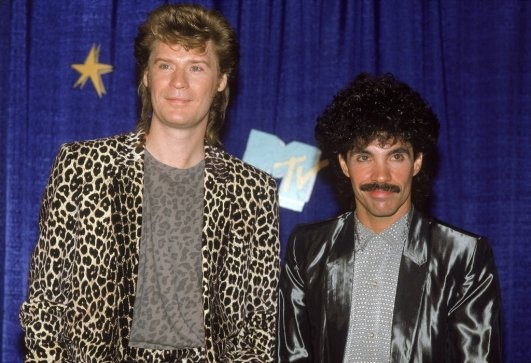 Hall and Oates.  In the 80s even men had big hair.
