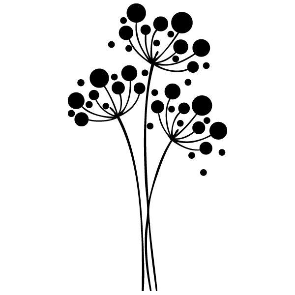 Vinilo Decorativo Flores y Círculos