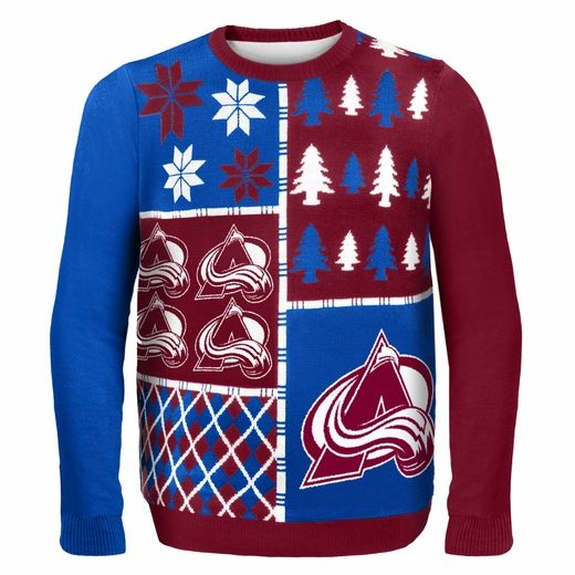 Colorado Avalanche NHL Ugly Sweater BusyBlock this is ugly but I LOVE it