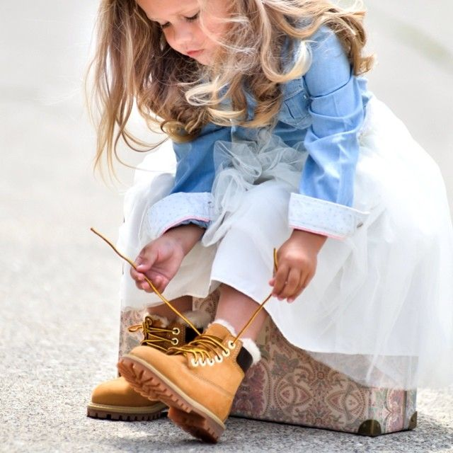 Tough and sweet. #timberland #yellowboot