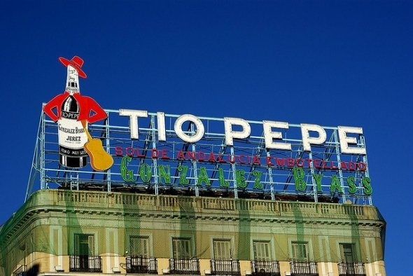 Tio Pepe in Puerta del Sol