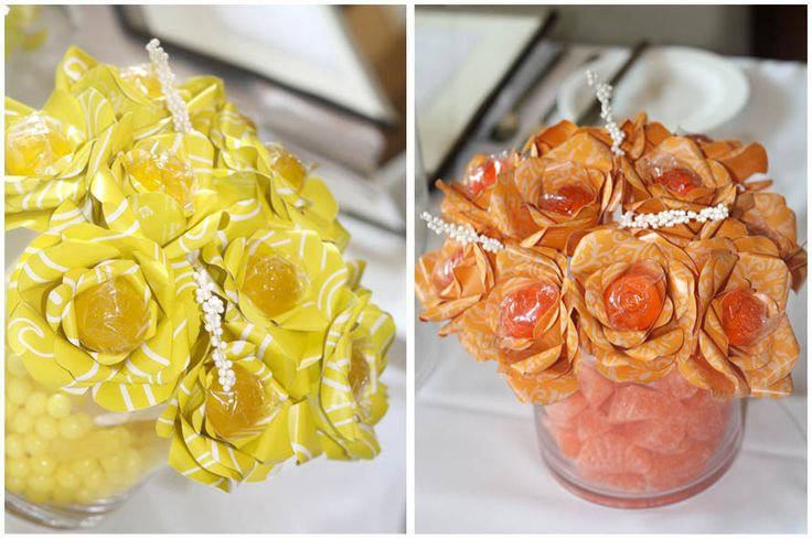 Lollipop Centerpieces - wish there was a how-to on this one, but there's not...  super cute!