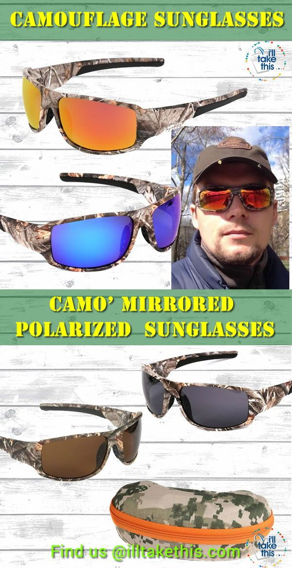 Camo Polarized Cycling Glasses Driving Fishing Sports Sunglasses UV400 Goggles V