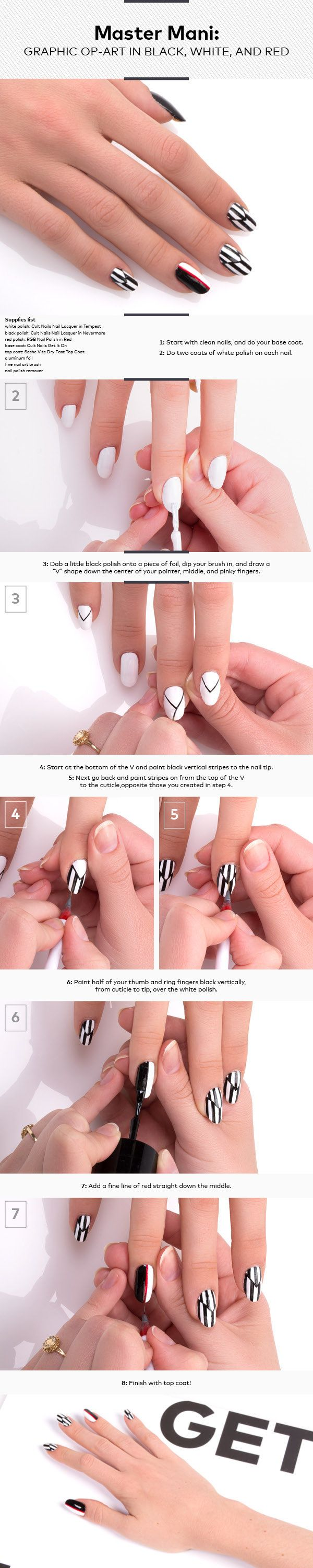 Master Mani: Graphic Op-Art in Black, White, and Red
