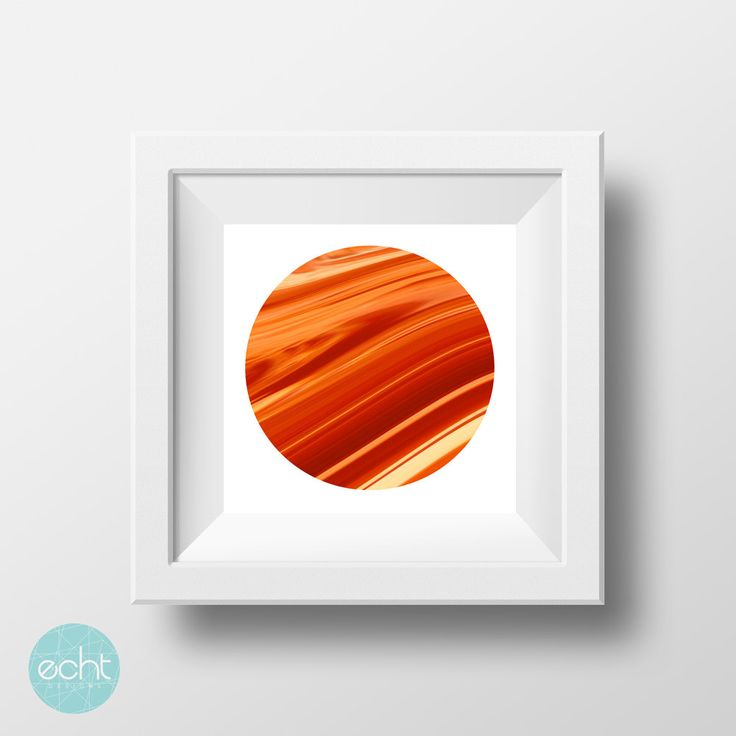 Abstract Orange Waves Moon  - Wall Art Digital Print by ECHTDESIGNS on Etsy