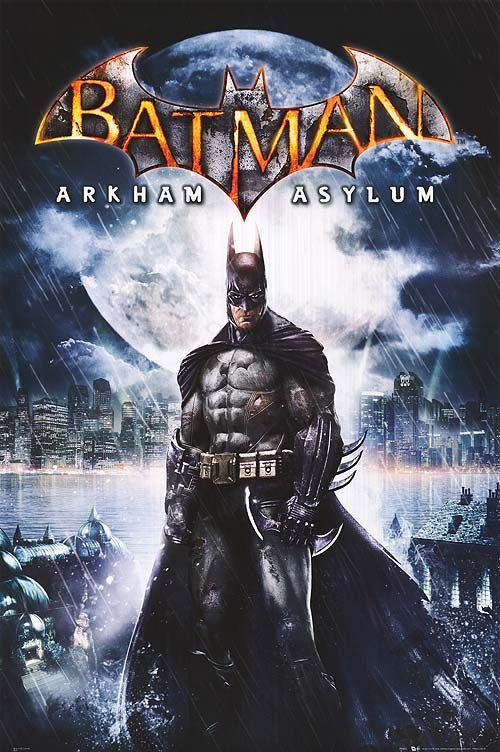 batman arkham asylum game poster