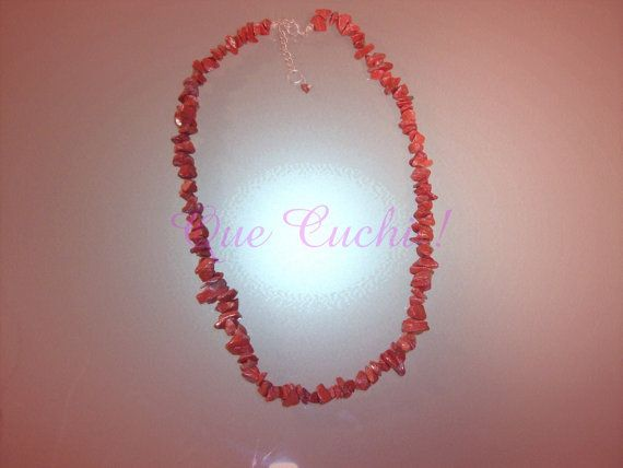 Collier Jaspe rouge par QueCuchi sur Etsy