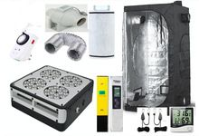 Complete Grow Tent font b Indoor b font Hydroponic 80x80X160cm Apollo 4 Led Grow Light 180W