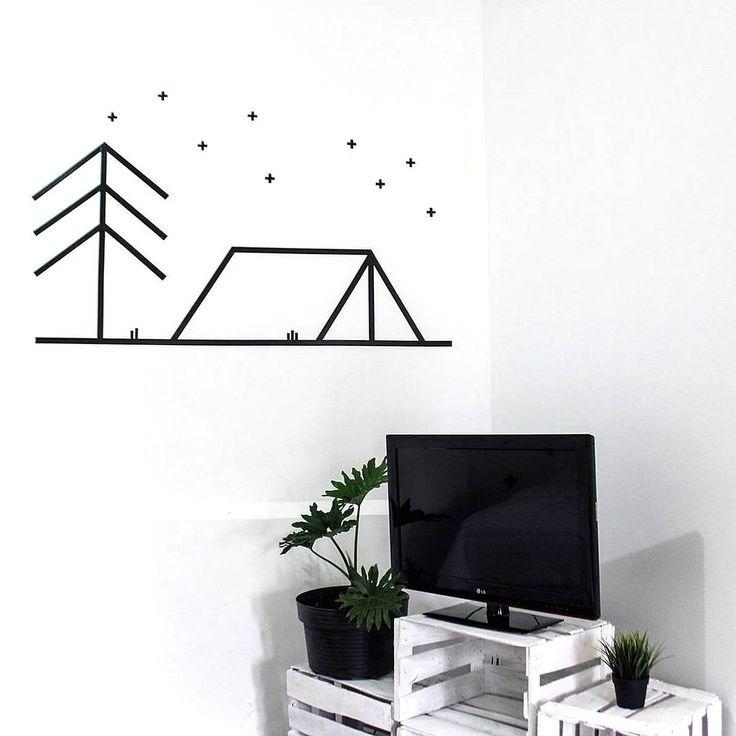 DIY Tape Wall Art Hiasan Dinding Kamar Buatan Sendiri Dari Selotip