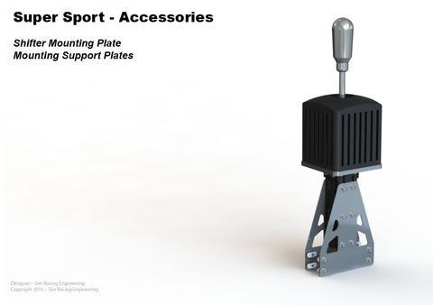Shifter Vertical Mounting Plates - Set of 2 | Sim Racing