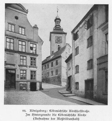 Königsberg,Löbenichtsche Kirche VI in der Löbenichtsche Kirchhofstraße