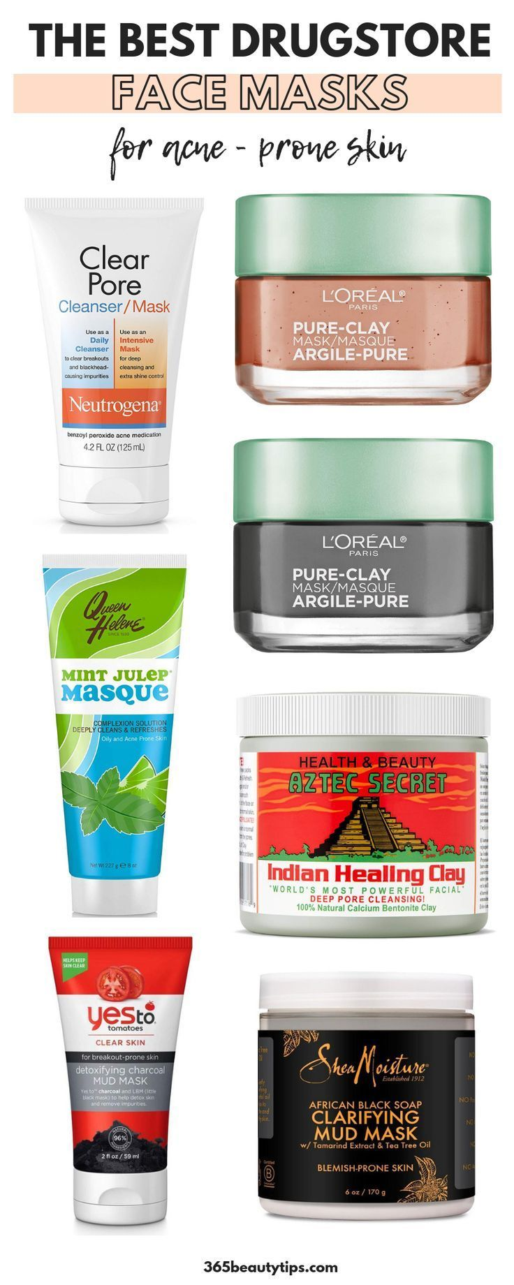 Best Drugstore Masks For Acne Prone Skin 365beautytips Best Drugstore Face Mask Best Drugstore Mask Drugstore Face Masks