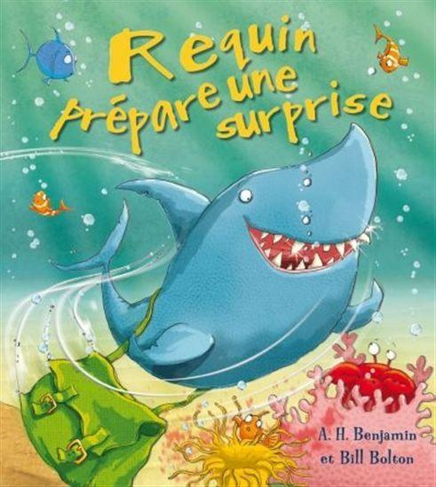 Requin est triste, car personne ne veut jouer avec lui ! Il a une idée géniale et part à la recherche de plusieurs animaux marins. Quelle surprise leur prépare-t-il ?