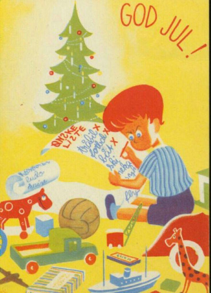 Julekort Magne Soone utg Varde forlag 1950-tallet