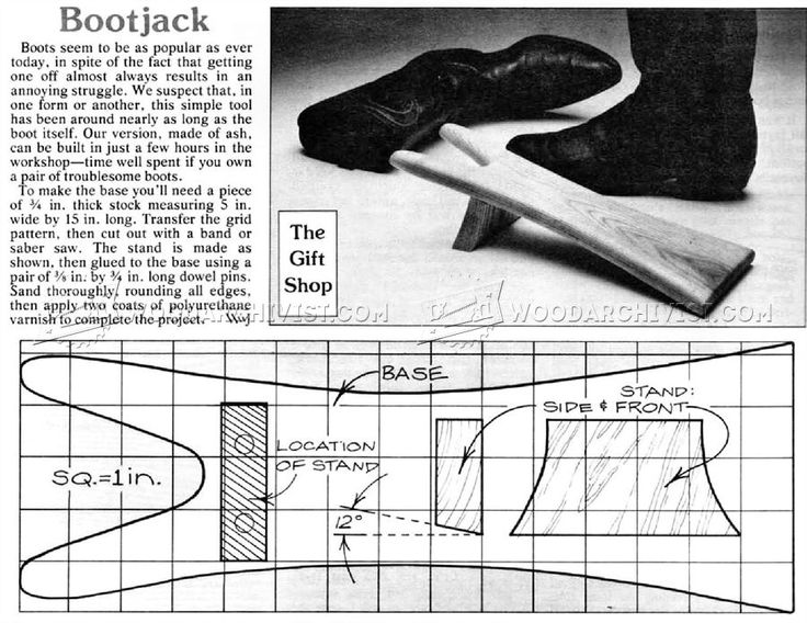 Bootjack Plans - Woodworking Plans and Projects | WoodArchivist.com