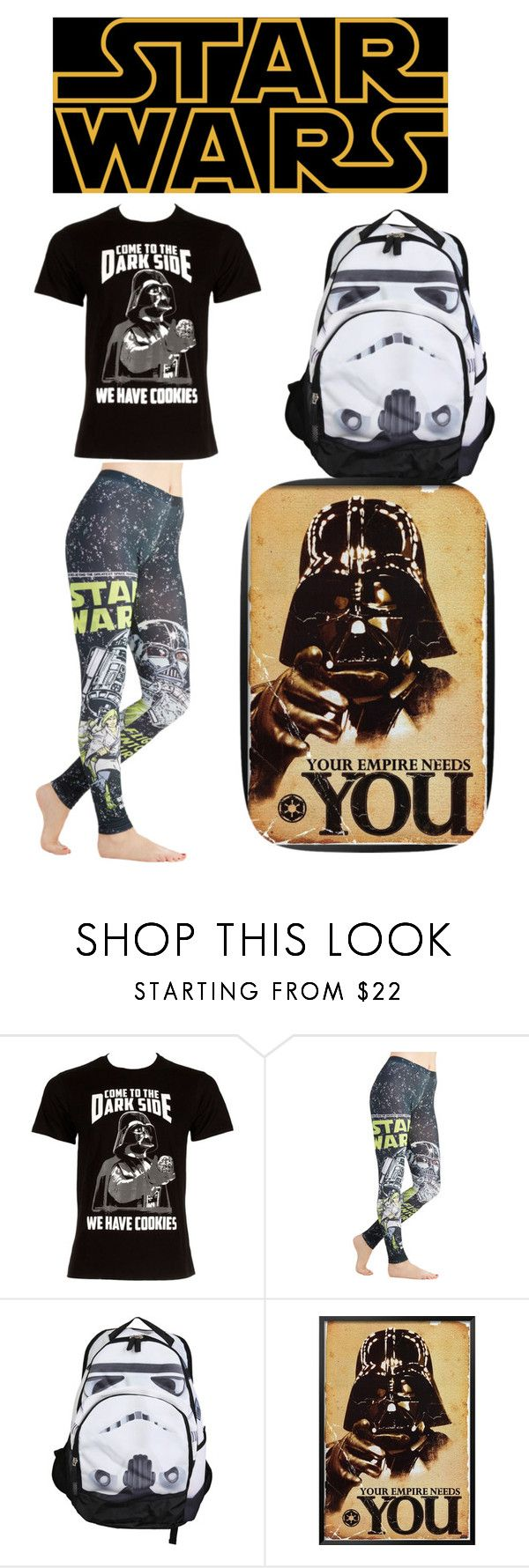 """Happy Star Wars day!! May the ""fourth"" be with you!!"" by madame-eloise ❤ liked on Polyvore featuring Hot Topic and starwars"